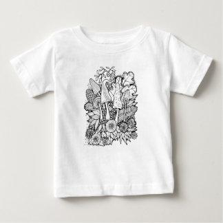 Champignons fantastiques de forêt t-shirt pour bébé