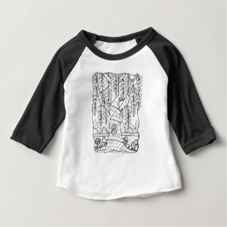 Champignons fantastiques de saule de forêt t-shirt pour bébé