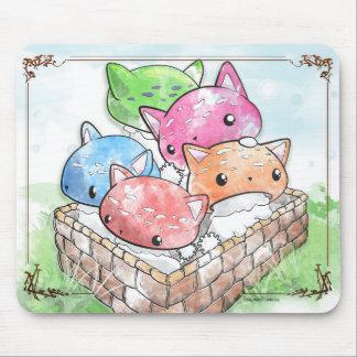 Champignons mignons de chat de Mewshroom Mousepad Tapis De Souris