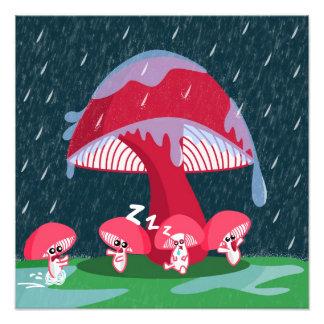 Champignons sous la pluie photo d'art