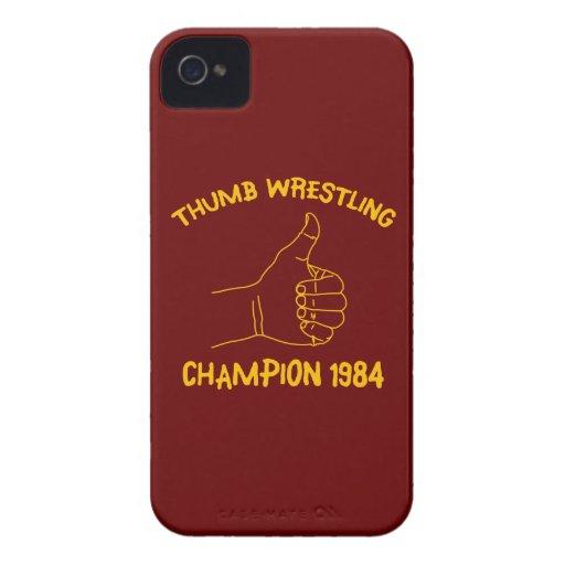 champion de lutte 1984 de pouce coques iPhone 4