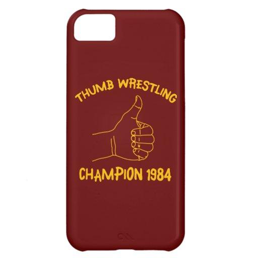 champion de lutte 1984 de pouce coques pour iPhone 5C