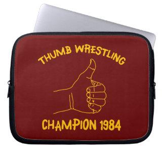 champion de lutte 1984 de pouce housses ordinateur portable
