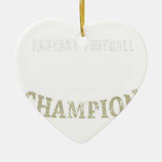 Champion de passioné du football d'imaginaire ornement cœur en céramique