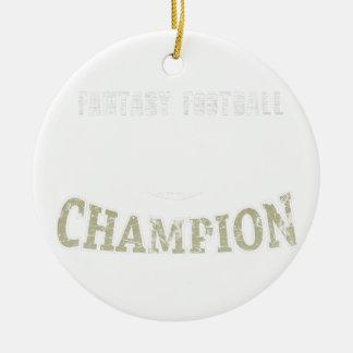 Champion de passioné du football d'imaginaire ornement rond en céramique