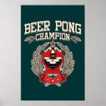 Champion de puanteur de bière affiches