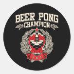 Champion de puanteur de bière autocollant