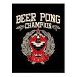 Champion de puanteur de bière carte postale