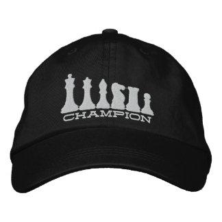 Champion d'échecs casquette brodée