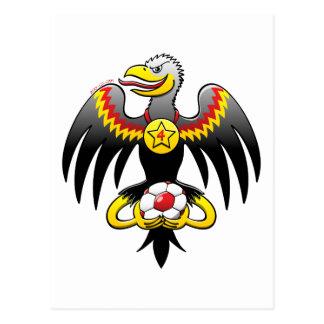 Champion du football d'Eagle de l'Allemagne Carte Postale