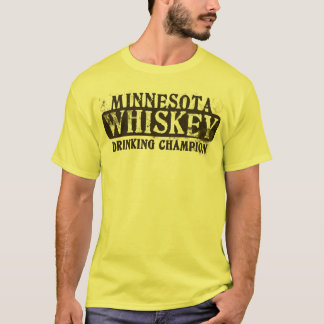 Champion potable de whiskey du Minnesota T-shirt