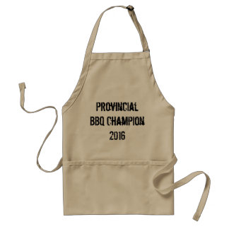 Champion provincial 2016 de BBQ Tablier