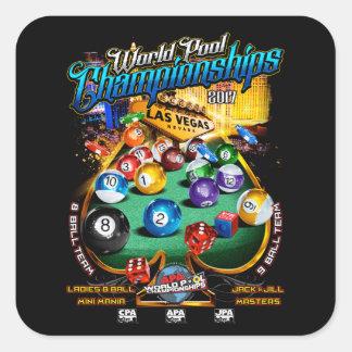 Championnats 2017 de piscine du monde d'APA Sticker Carré