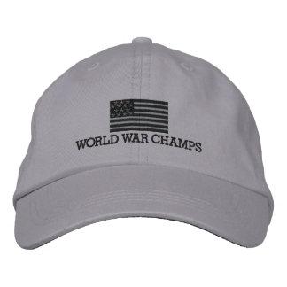 Champions de guerre mondiale - gris et drapeau casquette brodée