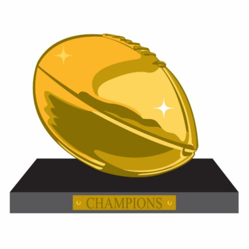 champions d'or du football découpages en acrylique