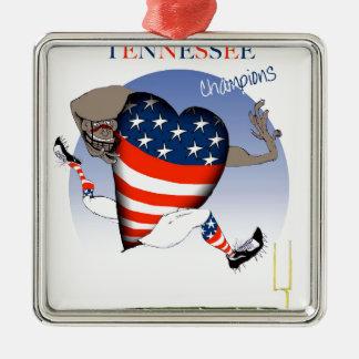 champions du football du Tennessee, fernandes Ornement Carré Argenté
