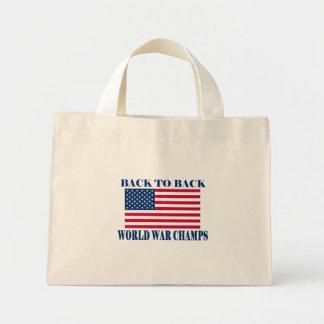 Champions incontestés de guerre mondiale, drapeau  sacs fourre-tout