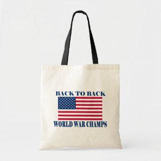 Champions incontestés de guerre mondiale, drapeau  sac en toile budget