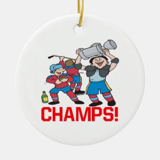 Champions Ornement Rond En Céramique