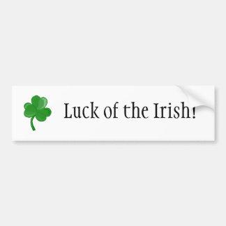 Chance de l'Irlandais ! adhésif pour pare-chocs Autocollant De Voiture