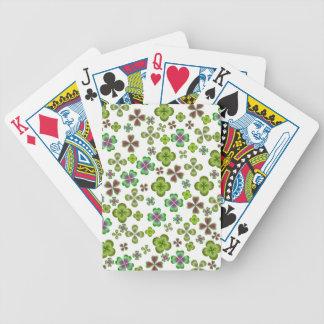 Chance des cartes de jeu irlandaises de shamrock jeux de cartes