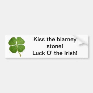 Chance irlandaise autocollant de voiture