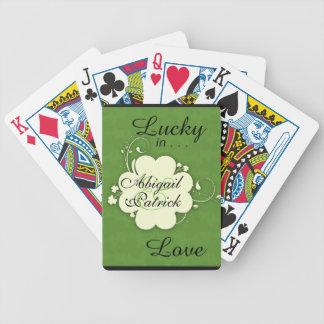 Chanceux dans l'amour a personnalisé des cartes de jeu de cartes
