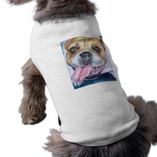Chandail anglais de bouledogue t-shirt pour chien