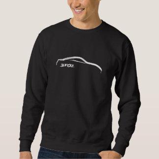 Chandail blanc de course de la brosse 350z sweatshirt