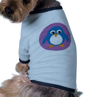 Chandail bleu de chien de pingouin mignon manteaux pour toutous