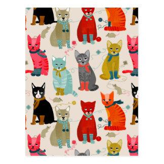 Chandail de chats de mitaines de chatons/Andrea Carte Postale