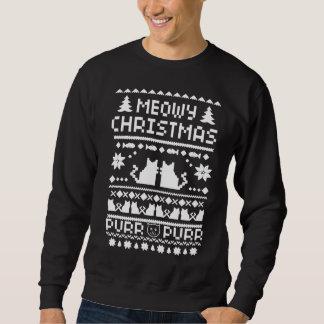 Chandail laid de chat de vacances de Noël de Meowy Sweatshirts