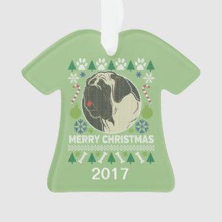 Chandail laid de Noël de Bullmastiff