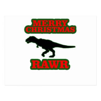 Chandail laid drôle Shirts.png de Noël de T-Rex Carte Postale