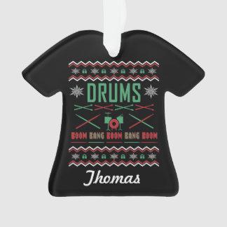 Chandail laid personnalisé de Noël de tambours