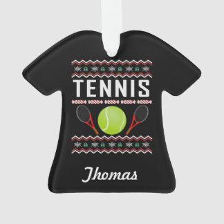 Chandail laid personnalisé de Noël de tennis
