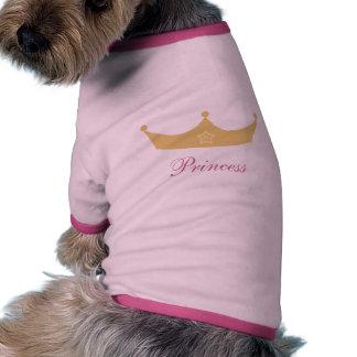 Chandail mignon de chien de princesse t-shirt pour chien