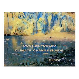Changement climatique de glacier de fonte cartes postales