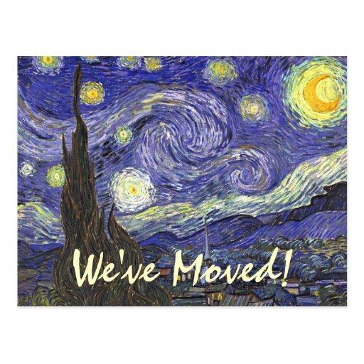 Nuit toil e de van gogh post impressionnisme carte for La poste changement adresse definitif