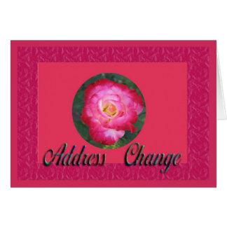 Changement d'adresse carte de vœux