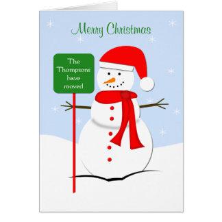 Changement d'adresse la carte de Noël