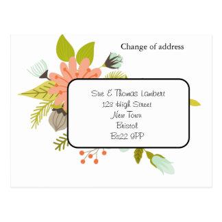 changement d'adresse la carte postale florale