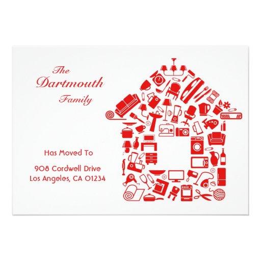 changement d 39 adresse le faire part plat de carte carton d 39 invitation 12 7 cm x 17 78 cm zazzle. Black Bedroom Furniture Sets. Home Design Ideas