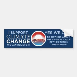Changement-Oui de climat nous pouvons plaisanterie Autocollant Pour Voiture