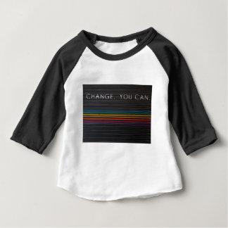 Changement vous pouvez des mots sur la porte t-shirt pour bébé