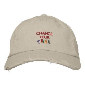 Changez le votre pensent le casquette casquette brodée
