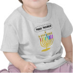 Channukah heureux Menora/Chanukia T-shirts