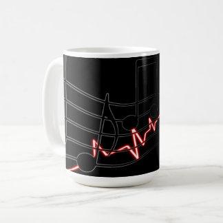 Chanson, air et battement de coeur de musique mug