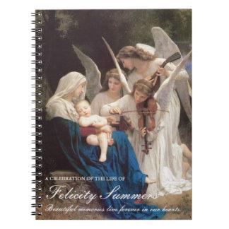 Chanson commémorative funèbre de Mary de livre Carnet À Spirale