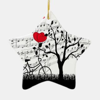 Chanson d'amour ornement étoile en céramique